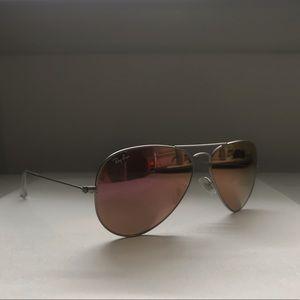 Ray-Ban Accessories - Ray-Ban pink mirrored aviators